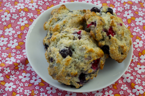 Mixed Berry Tangerine Scones Recipe — Dishmaps